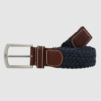 Woven Belt with Pin Buckle Closure