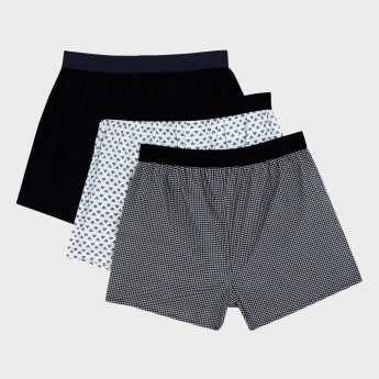 Printed Boxers with Elasticised Waistband - Set of 3