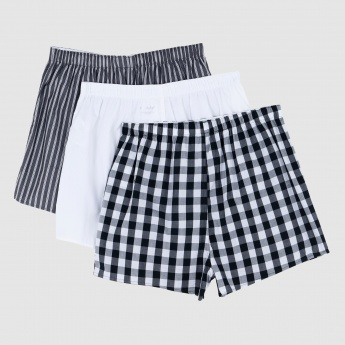 Boxers with Elasticised Waistband - Set of 3