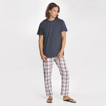 Round Neck T-Shirt and Pyjama Set