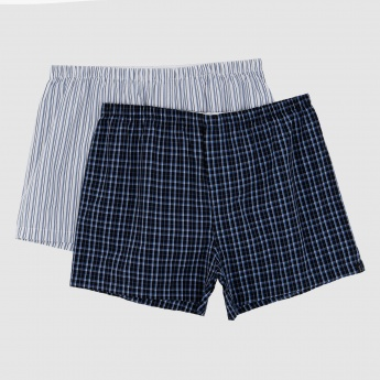 Chequered and Striped Boxer Briefs - Set of 2