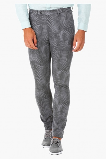 Printed Trousers in Slim Fit