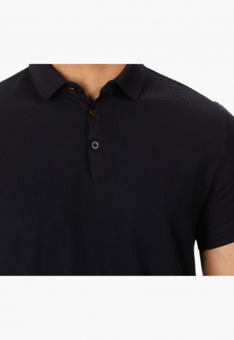 Textured Polo T-shirt
