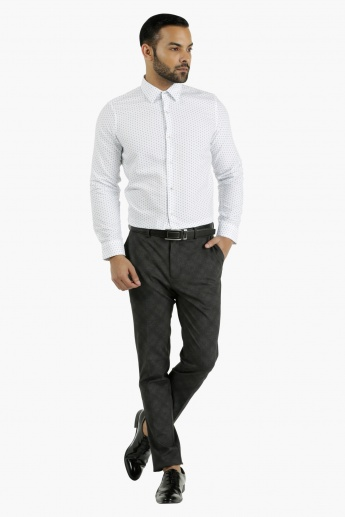 Printed Cotton Shirt in Slim Fit