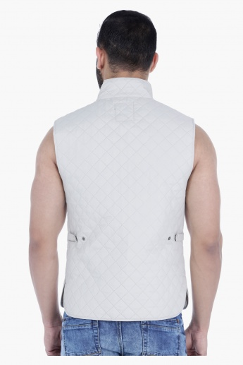 Quilted Gilet in Regular Fit