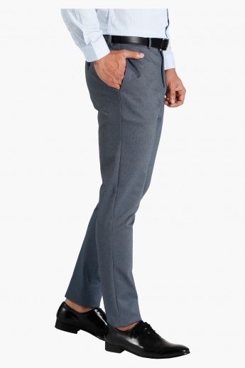 Textured Formal Trousers