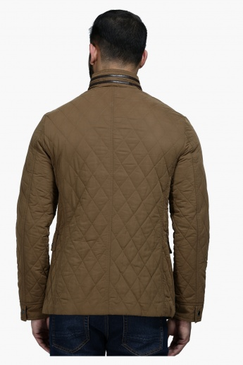 Quilted Polyester Jacket with Long Sleeves in Regular Fit