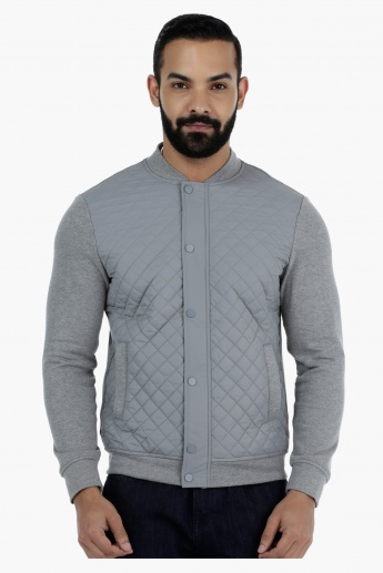 Quilted Long Sleeves Jacket in Slim Fit