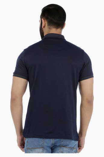 Polo Neck T-Shirt in Slim Fit