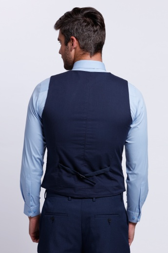 Sleeveless Waistcoat with Complete Button Placket
