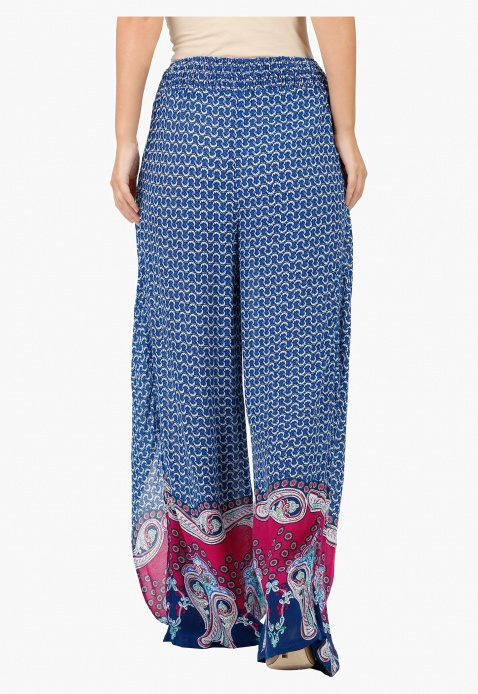 Printed Wrap with Skirt Palazzo