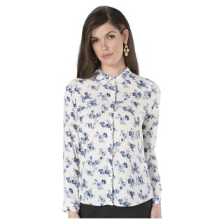 Long Sleeves Printed Formal Shirt