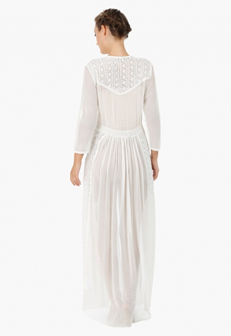 Lace Maxi Coverup