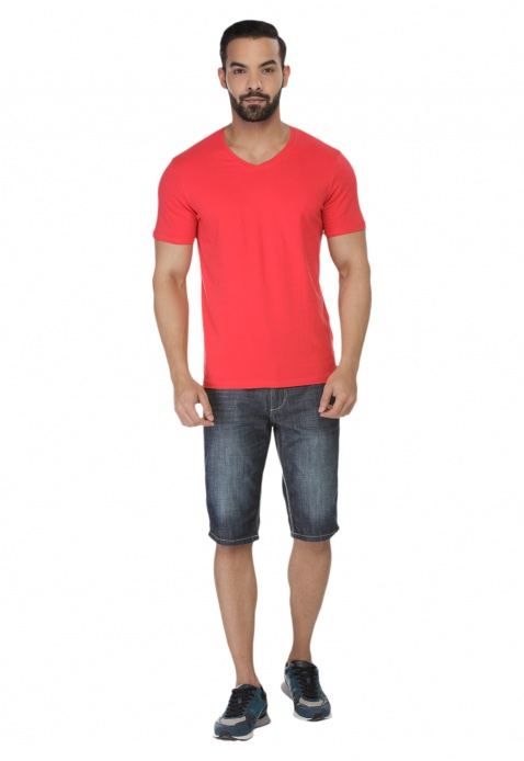 Short Sleeves V-neck T-shirt