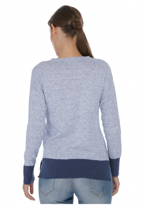 Long Sleeve V-Neck Sweatshirt