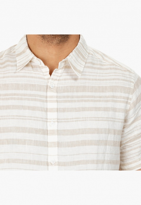 Striped Short-sleeved Shirt