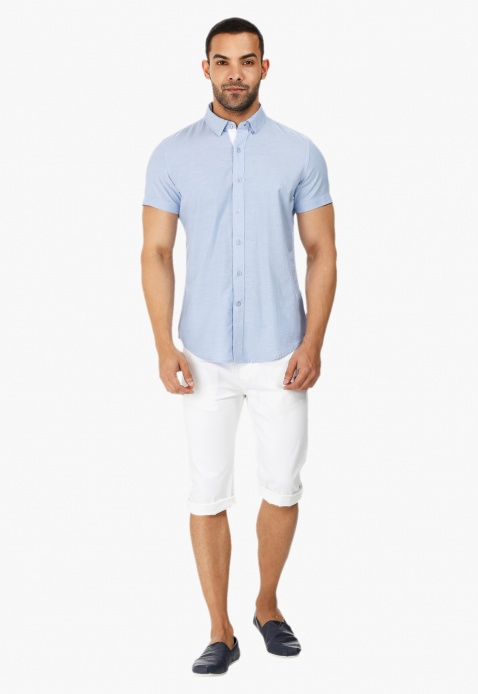 Short-sleeved Oxford Shirt