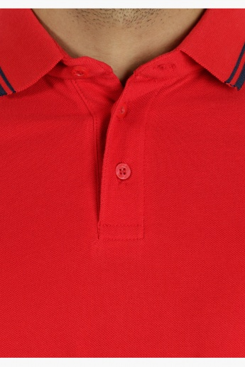Basic Polo T-Shirt in Regular Fit