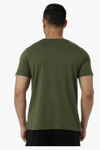 Basic Cotton T-Shirt with Round Neck and Short Sleeves in Regular Fit