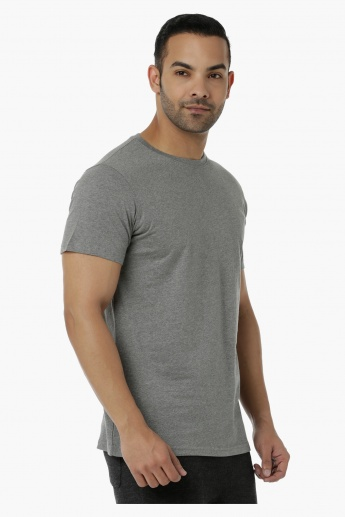 Basic Cotton T-Shirt with Crew Neck and Short Sleeves in Regular Fit