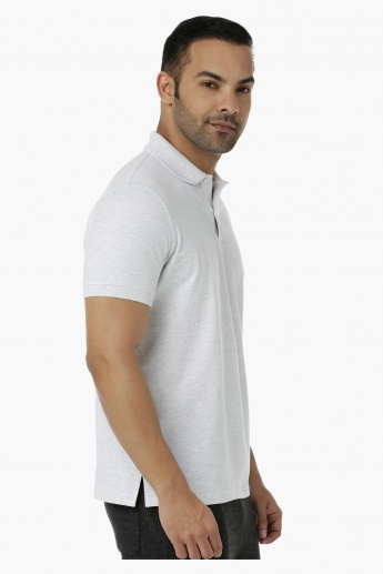 Basic Polo T-Shirt with Short Sleeves in Regular Fit