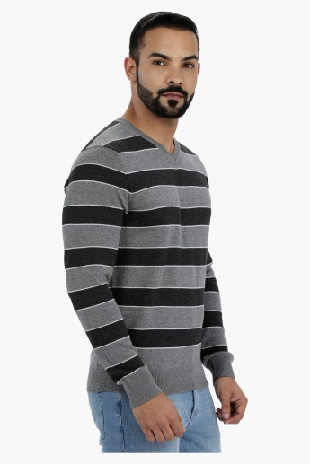 V-Neck Sweater with Long Sleeves