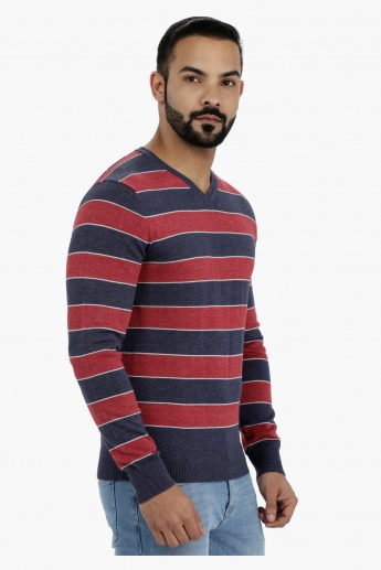 Striped Long Sleeves Pullover