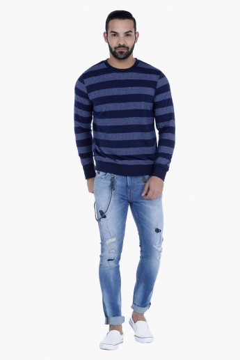 Striped T-Shirt with Long Sleeves