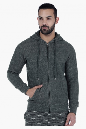 Hooded Sweat Jacket with Long Sleeves