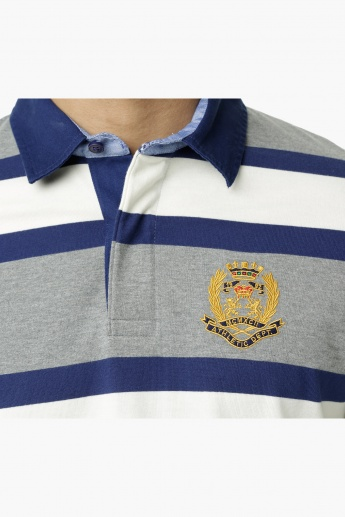 Striped Polo T-Shirt in Regular Fit