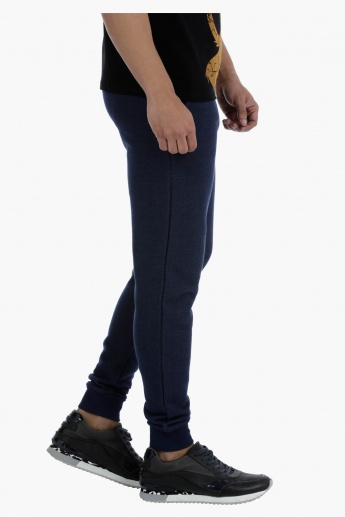 Textured Joggers with Drawstring
