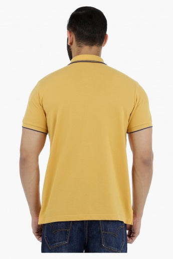 Pique Tipping Polo Neck T-Shirt with Short Sleeves
