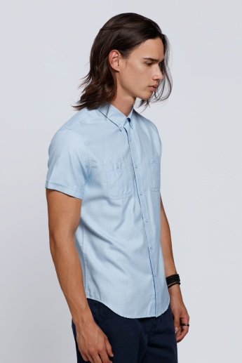 Short Sleeves Shirt with Patch Pockets