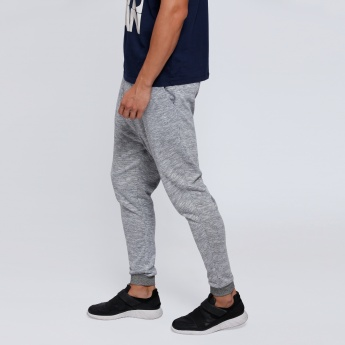 Melange Printed Jog Pants with Snug Fitted Cuffs