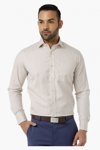 Formal Shirt with Collar Neck in Regular Fit