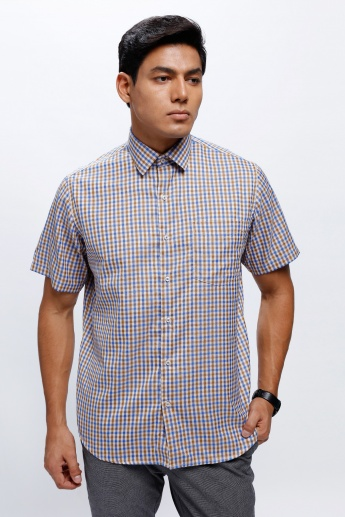 Checkered Shirt with Short Sleeves