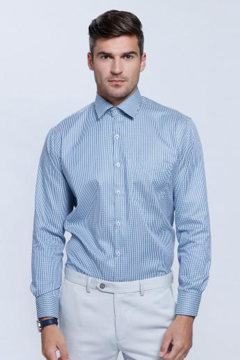 Striped Long Sleeves Shirt with Button Placket