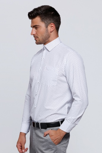 Printed Long Sleeves Shirt with Complete Placket on the Front