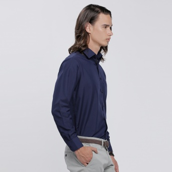 Shirt with Long Sleeves and Patch Pocket