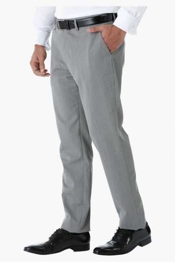 Formal Herringbone Trousers in Regular Fit