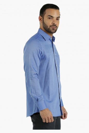 Cotton Dobby Shirt in Regular Fit