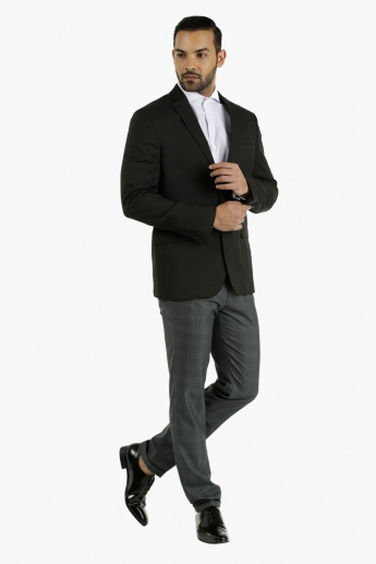 Chequered Formal Trousers in Slim Fit