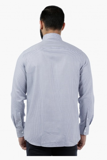 Textured Geometric Dobby Shirt
