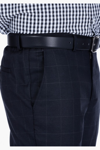 Chequered Trousers in Slim Fit
