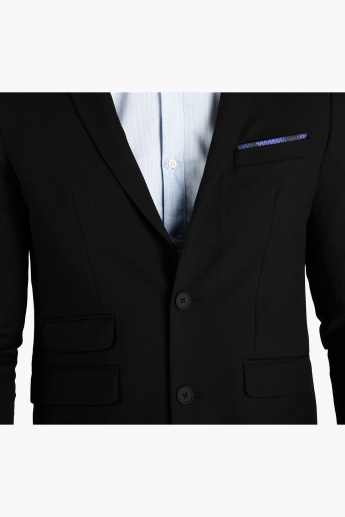 Performance Suit Jacket with Notches Lapels