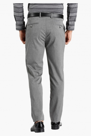 Straight Fit Twill Trousers