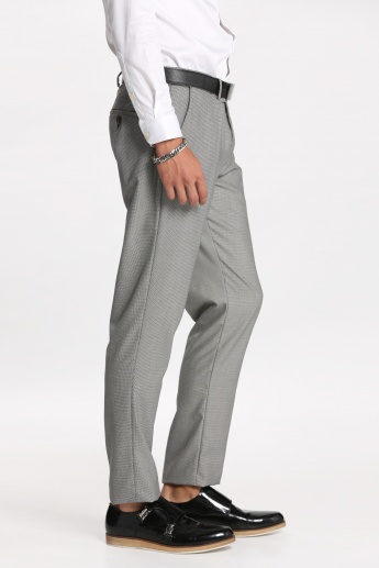 Textured Trousers with Pocket Detail