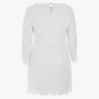 Plus Size Floral Lace-embellished Tunic
