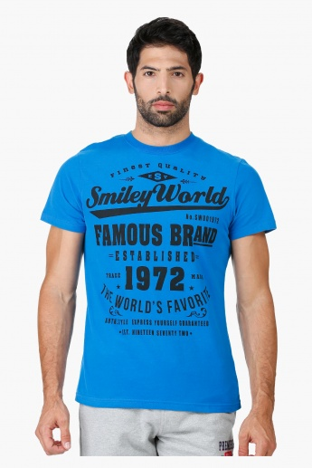 Smiley World Cotton T-Shirt in Regular Fit