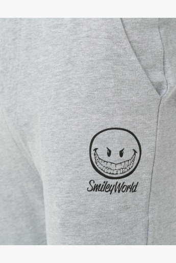 Smiley World Cotton Melange Pants with Tipping in Regular Fit